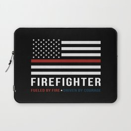 Fueled By Fire (Thin Red Line) Laptop Sleeve