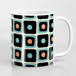 Mid Century Square Dot Pattern 4 Coffee Mug