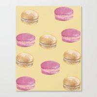 macaron Canvas Prints featuring Macaron, Macaron by Malina Syvo