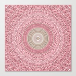 Gold Rose and Blush Boho Mandala Canvas Print