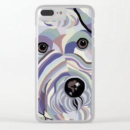 Wire Hair Terrier Denim Colors Clear iPhone Case
