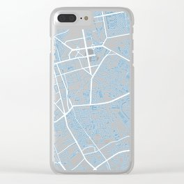 Street MAP Jakarta // Blue Clear iPhone Case