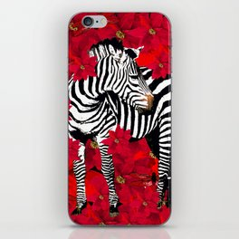 ZEBRA AND FLOWERS iPhone Skin