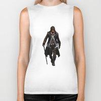 assassins creed Biker Tanks featuring assassins - assassins by alexa