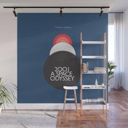 2001 a Space Odyssey, Stanley Kubrick alternative movie poster, dark blue  classic film, cinema love Wall Mural