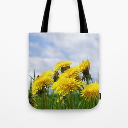 Dandelion meadow Tote Bag