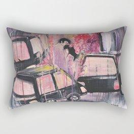 Love against the street noise Rectangular Pillow