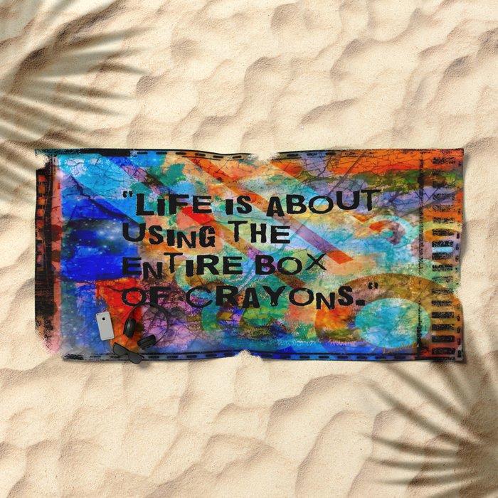 Crayon Box 2 Beach Towel