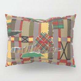 Pierced, Torn & Stitched Tartan Plaid by Nettwork2Design - Nettie Heron-Middleton Pillow Sham