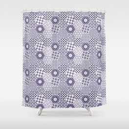 Spanish Tiles of the Alhambra - Violets Shower Curtain