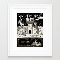 Scissors, String and Solitude  Framed Art Print