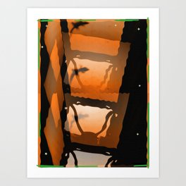 salamander light and stars II Art Print