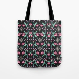 Flowers and Flytraps Tote Bag
