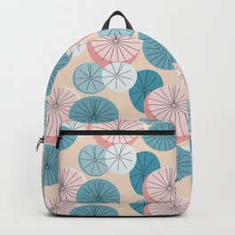 Modern Retro Pastel Pattern Backpack