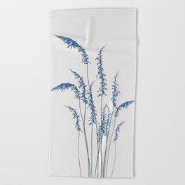 Blue flowers 2 Beach Towel