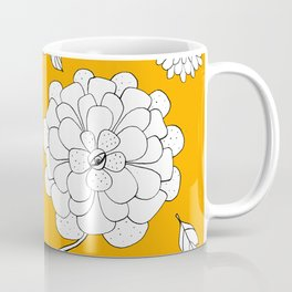 Sunny Crazy Daisy pattern Coffee Mug