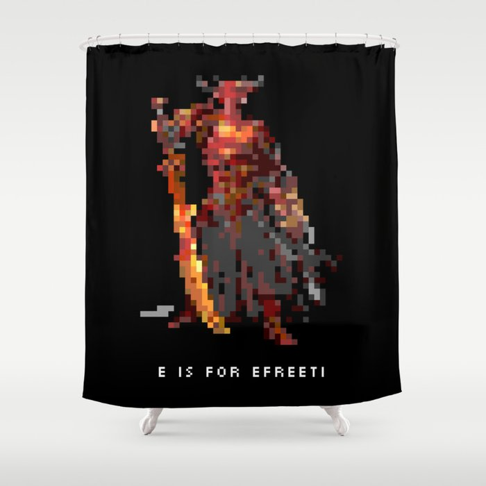 E is for Efreeti Shower Curtain