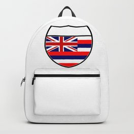 Hawaii Flag In An Interstate Sign Backpack