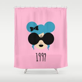 90's Baby (pink) Shower Curtain