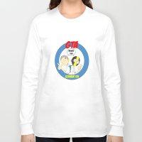 gta Long Sleeve T-shirts featuring GTA - Mat Botak + Ninja Boy with Circle Behind by Azlee Mahat