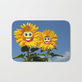 Sonnenblumenfrau und Sonnenblumenmann Bath Mat