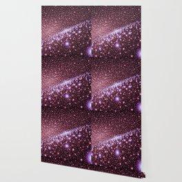 Andromeda Galaxy Pink Lavender Wallpaper