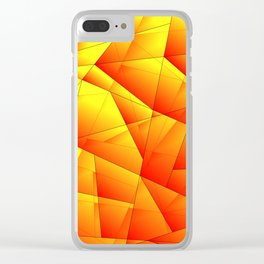 Bright pattern of red and yellow triangles and irregularly shaped lines. Clear iPhone Case