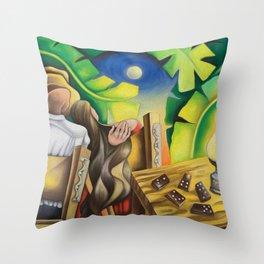 Romance Guajiro. Cuban Art by Miguez Throw Pillow
