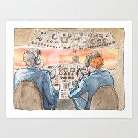 cabin pressure Art Prints featuring Cabin Pressure by Kit Mills