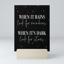 look for stars Mini Art Print
