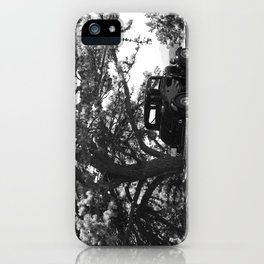 Antique Car on the Parkway (BW) iPhone Case