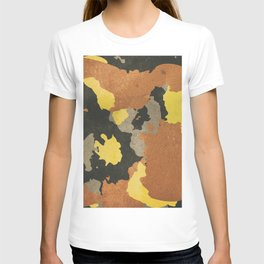 Autumn military camouflage T-shirt