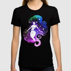 Space Witch Black LARGE Womens Fitted Tee