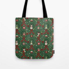 Winter Friends (Green) Tote Bag