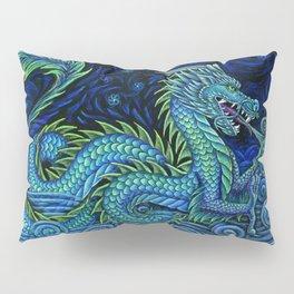 Chinese Azure Dragon Pillow Sham