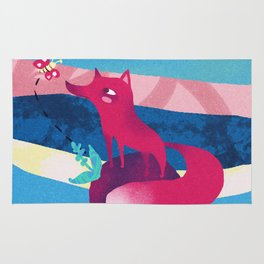 Pink Space Fox The Little Prince Rug