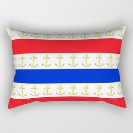 Red White Blue Anchors Away Rectangular Pillow