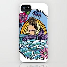 Sunrise Mermaid Girl iPhone Case
