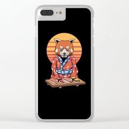 Rad Panda Clear iPhone Case