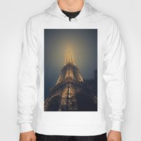 eiffel tower Hoodies featuring Eiffel Tower  by cchelle135