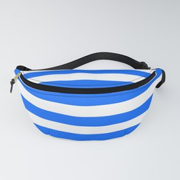 China Blue and White Medium Stripes Fanny Pack