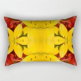 """A Gathering of Lilies"" Remix - 4 (3-1) [D4469~57] Rectangular Pillow"