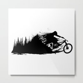 MTB From the Forest Metal Print