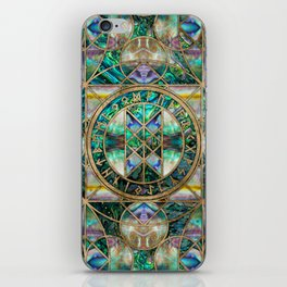 Web of Wyrd The Matrix of Fate -Abalone Shell iPhone Skin