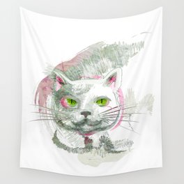 Tropical Cat Wall Tapestry