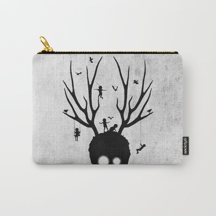 dear imaginary friends (black and white) Carry-All Pouch