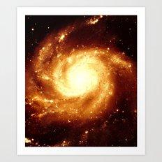Golden Galaxy Art Print