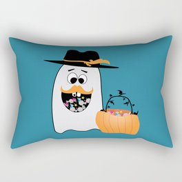 Silly Halloween Ghost Wants Your Candy Rectangular Pillow