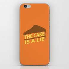 The Cake Is A Lie (Orange Version) iPhone & iPod Skin