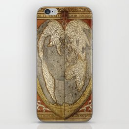 Heart-shaped projection map iPhone Skin